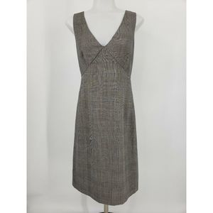 J Crew Exchange Dress Gray Glen Plaid Wool